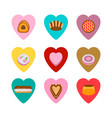 cakes in the hearts isolated over white vector image vector image