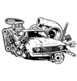 car auto accessories repair tool equipment service vector image