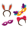 carnival masquerade or halloween party costume vector image vector image