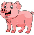 cartoon happy pig vector image vector image