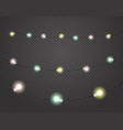 color light garlands isolated on dark transparent vector image vector image