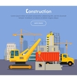 Construcrtion Build Banner Concept in Flat Style vector image