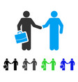 contract handshake meeting flat icon vector image vector image