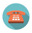 Desk Phone icon flat vector image