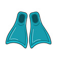 diving fin to be underwater adventure vector image vector image