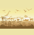 double exposure wild animals vector image vector image