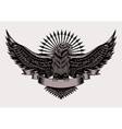 emblem with eagle vector image