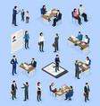 employment recruitment isometric icons vector image vector image