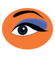 eye makeup clipart or color vector image