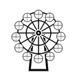 Ferris wheel black simple icon vector image vector image