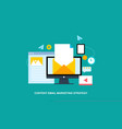 flat design email marketing strategy vector image vector image