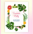 floral-card-tropic vector image vector image