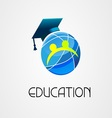 Global Education logo company vector image vector image
