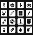 gmo icons set squares vector image vector image