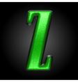 green plastic figure z vector image