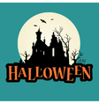 halloween logo haunted mansion vector image