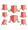 heraldic escutcheons for coat of arms with ribbons vector image vector image