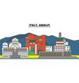 italy amalfi city skyline architecture vector image vector image