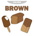 learn the color brown - things that are brown vector image