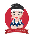 logo chef japan vector image vector image
