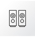 loudspeakers icon symbol premium quality isolated vector image