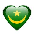 Mauritania flag button vector image vector image