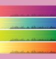 memphis multiple color gradient skyline banner vector image vector image