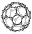 molecular structure c60 buckyball vector image vector image