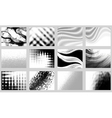 monochrome backgrounds vector image