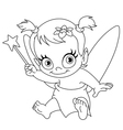 outlined baby fairy vector image vector image