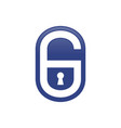 padlock shape initial g lettermark graphic icon vector image
