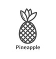 pineapple minimal sign design vector image vector image