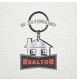 Real estate agency Buy Sell and Consultancy vector image vector image