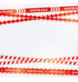 red sale ribbon winter tapes in festive holiday vector image vector image