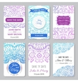 set perfect wedding templates with doodles vector image