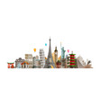 sights countries of world journey travel concept vector image