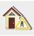 smart home with skull isolated icon design vector image