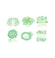 spring logo templates original design collection vector image vector image