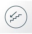 staircase icon line symbol premium quality vector image vector image