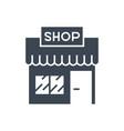 store glyph icon vector image vector image