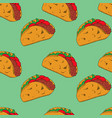 taco seamless pattern vector image