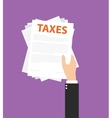 Taxes documents vector image