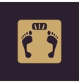 The scales icon Scales symbol Flat vector image