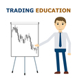 Trade mentor at the flipchart vector image