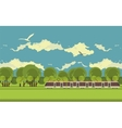 train in countryside vector image