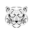 tribal panther vector image vector image