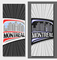 vertical layouts for montreal vector image