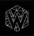 w geometric triangle blockchain font vector image vector image