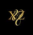 xz x z logo initial mark vector image vector image