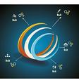 3d Symbol business communication network vector image